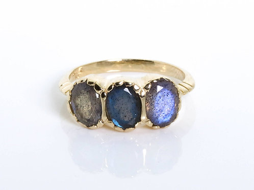 Signature 3-Stone Labradorite Ring