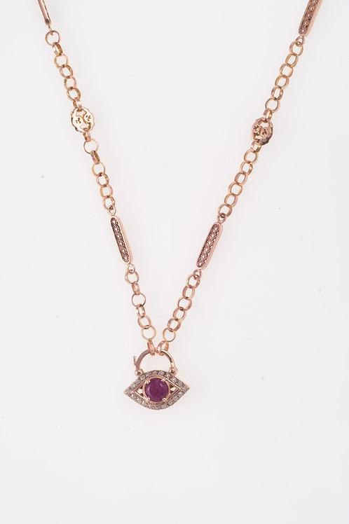 Flower Rose Gold Necklace