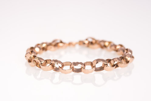 Oval Cable Rose Gold Bracelet