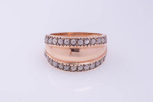 2-row Rose Cut Diamonds Ring