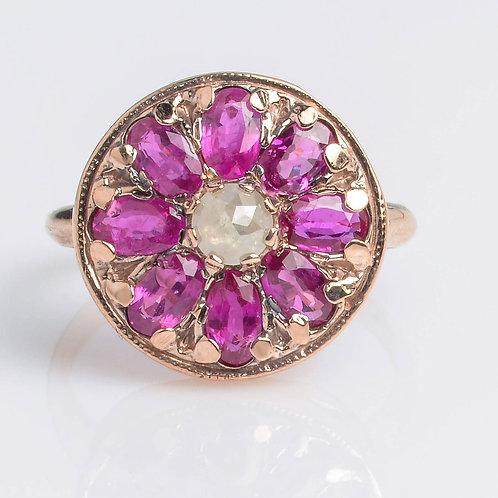 Boho style Round Mandala Ring