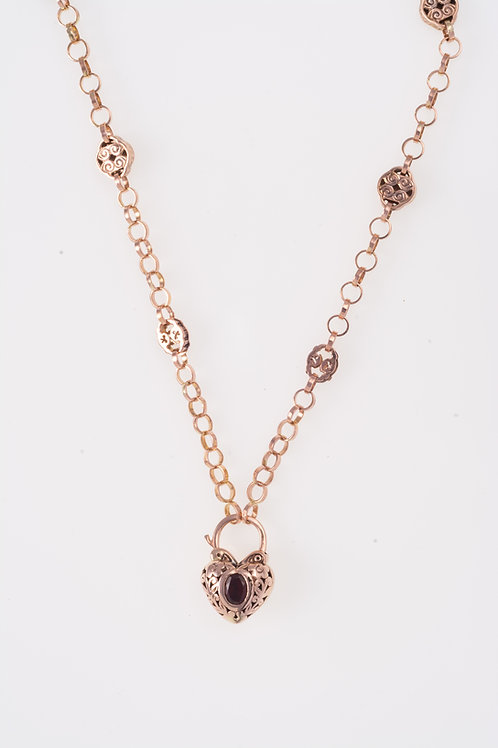 Rose Gold Roll Necklace