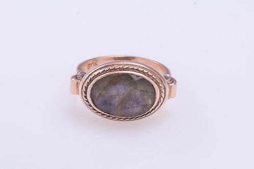 Oval Labradorite Ring