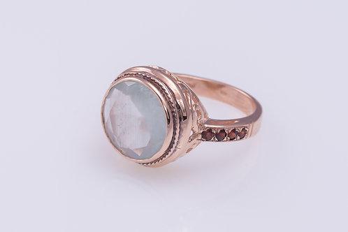Milky Aquamarine Cocktail Ring