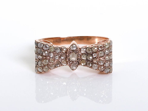 Bow Diamond Engagement Ring