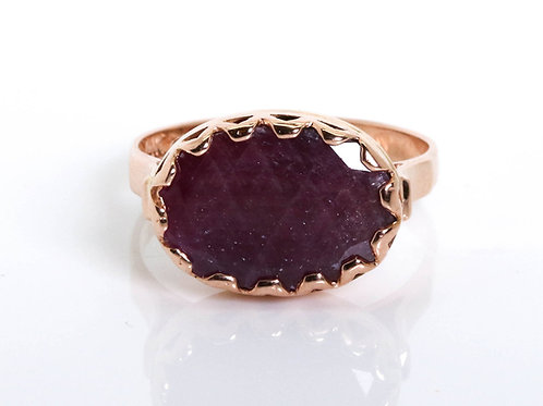 Oval Amethyst Marquise Ring