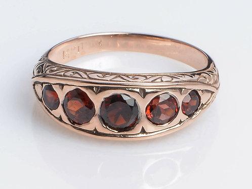 Red Garnet Vintage Style Ring