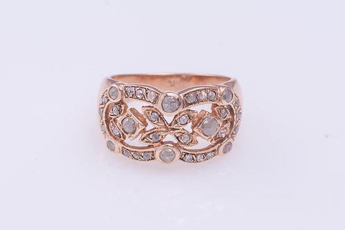Rose Cut Diamonds Infinite Ring
