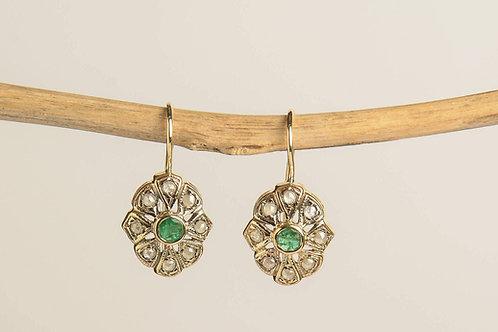 Emerald and Rose-Cut Diamonds Twinkies