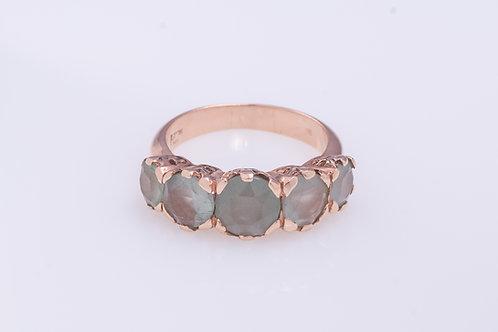 Milky Aquamarine Princess Ring