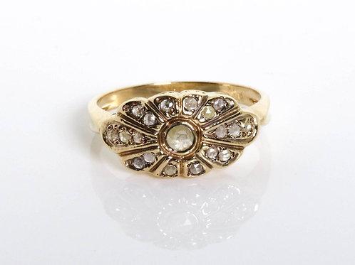 Vintage Rose-Cut Diamonds Ring