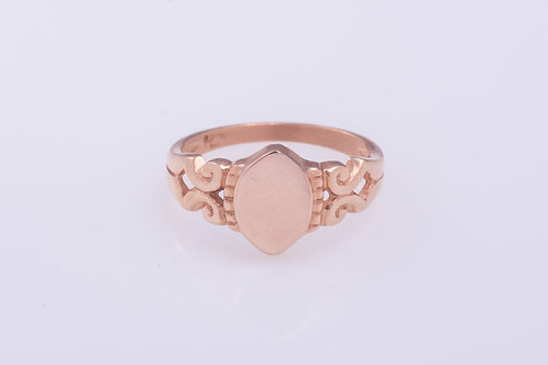 Elliptical disc in Rose Gold