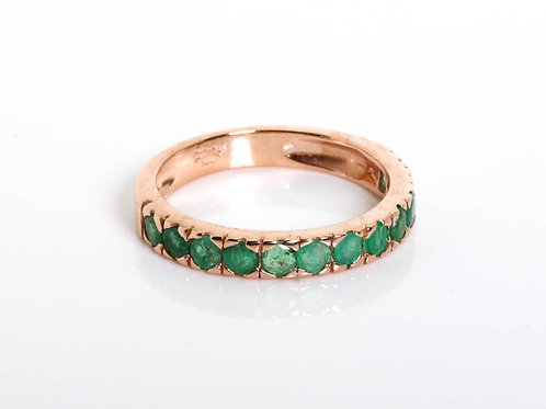 Half Eternity Stacking Emerald Ring