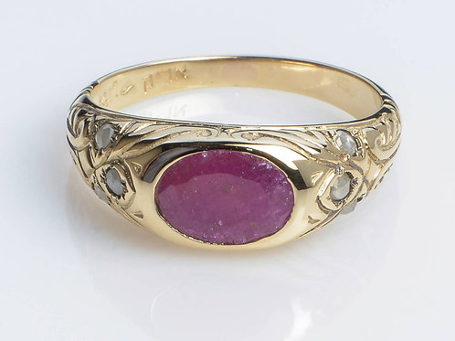 Ring with a Central Ruby