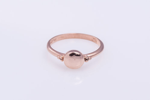 Round Disc Rose Gold Ring