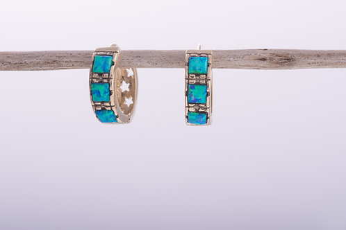 Bolder Opal Huggie Hoop Earrings