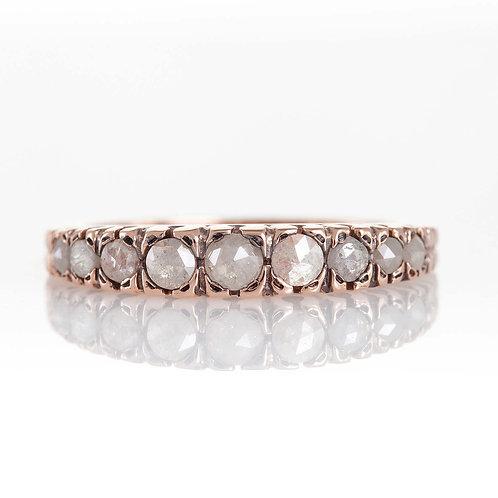 Rose-Cut Diamonds Engagement Ring