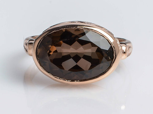 Oval Smoky Topaz Ring