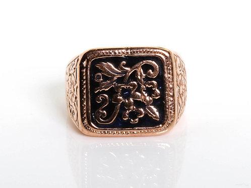 Vintage Unisex Enamel Ring