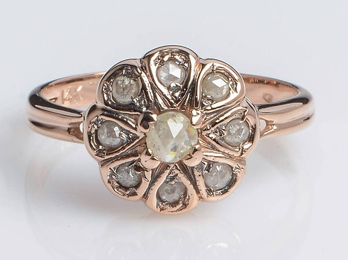 Flower Diamond Vintage Ring