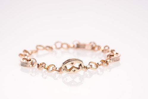 Pentagon Rose Gold Bracelet