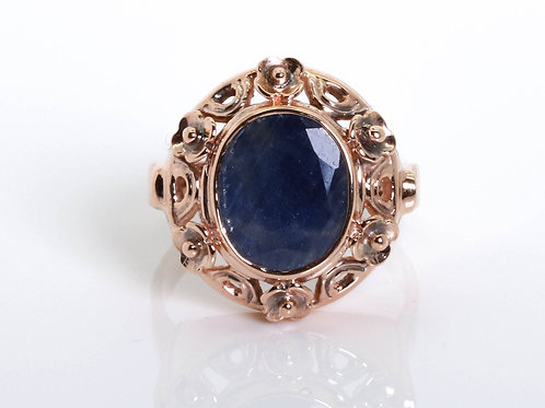 Sapphire Statement Ring set in 14K Rose Gold
