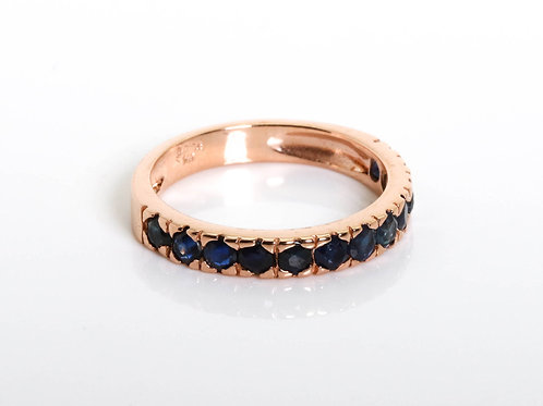 Half Eternity Stacking Sapphire Ring