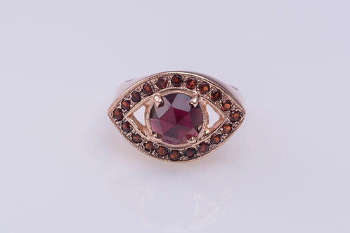 Garnet Eye Protection Ring