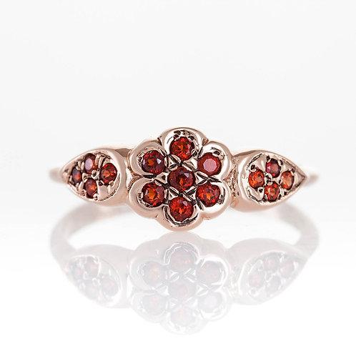 Garnet Rose Gold Handmade Ring