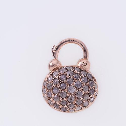 Oval Ruby and Rose Cut Diamonds Padlock