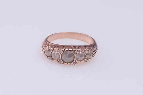 Vintage Rose Cut Diamonds Ring