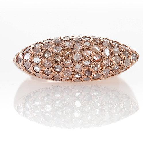 Pave Ring Rose Cut Diamond