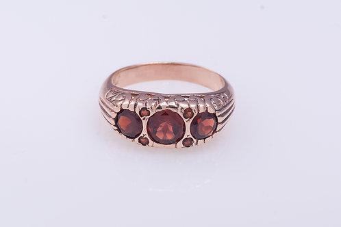 Garnet Rose Gold Ring