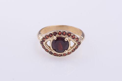 Garnet Protection Eye Ring