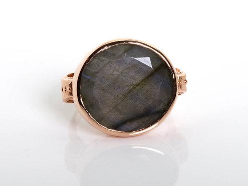 Round Labradorite Cocktail Ring