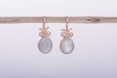 Milky Aquamarine Earrings