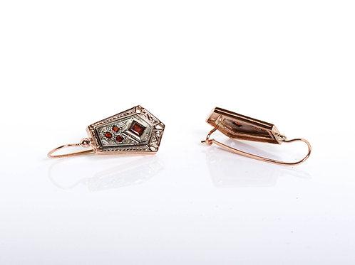 2 Tone Ethnic Drop earrings