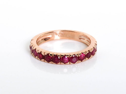 Half Eternity Stacking Ruby Ring