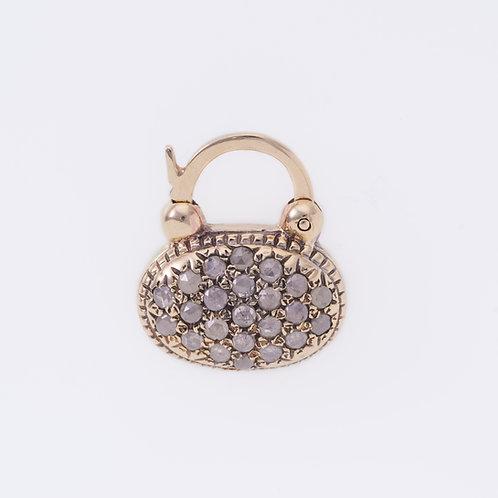 Oval Rose Cut Diamonds Padlock