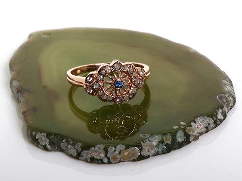 Art Deco Delicate Sapphire Ring