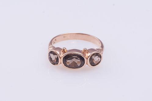 3-Smoky Topaz Stones Ring