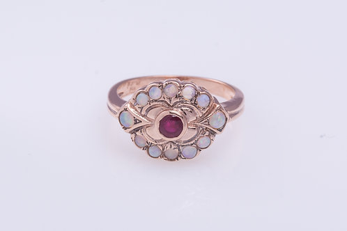 Ruby and Opal Statement Ring