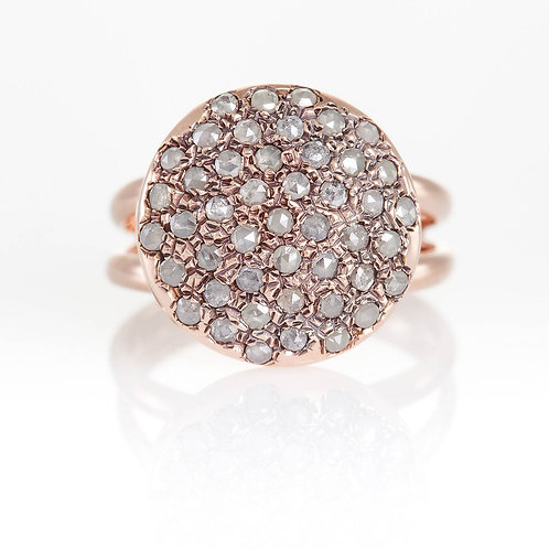 Rose Cut Diamonds Ring