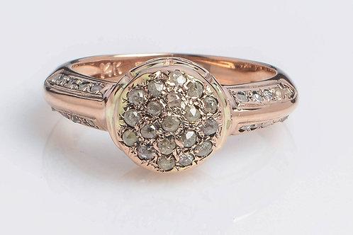 Napoleon style Rose Cut Diamond Vintage Ring