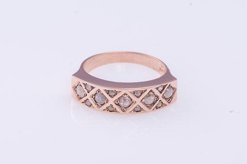 Rose Cut Diamonds Engagement Ring