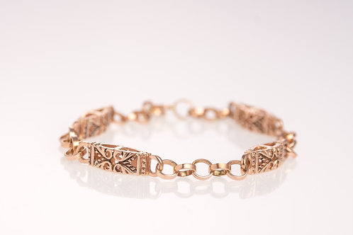 Rose Gold Waves Bracelet