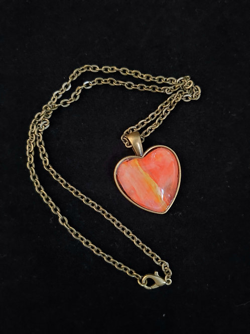 Heart Fluid Acrylic Necklace