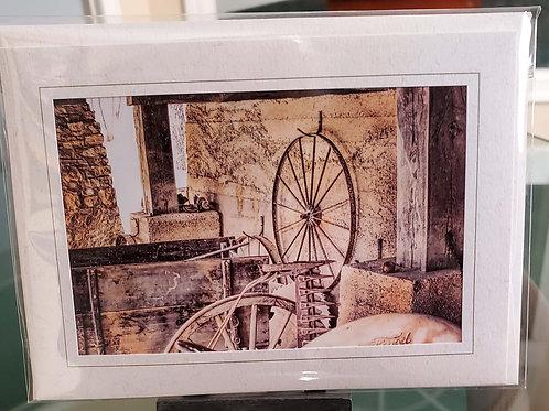 Wagon Wheels Blank Greeting Card