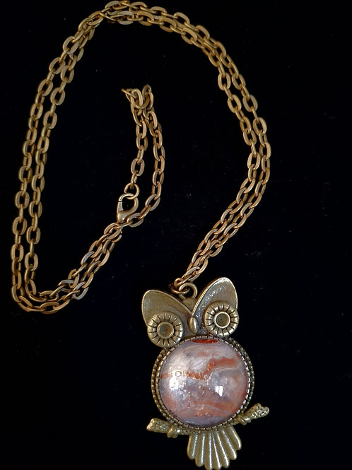 Owl Fluid Acrylic Necklace