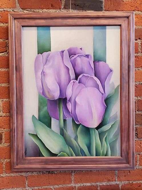 Purple Tulip with Fence
